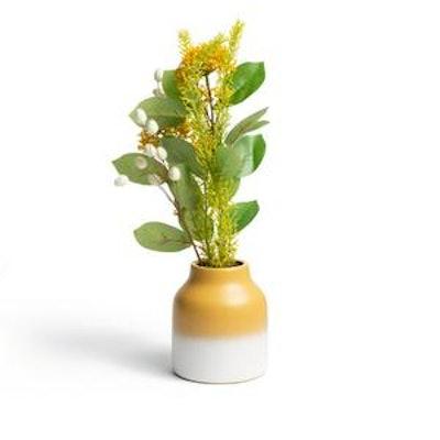 Habitat Country Hideaway Faux Floral Ceramic