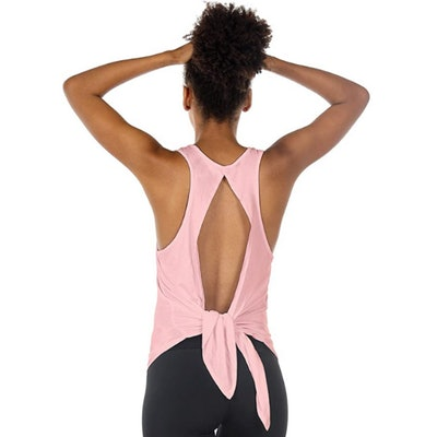 icyzone Open Back Workout Tank Top