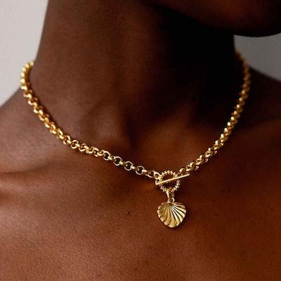 Wreath T-Bar Chunky Necklace