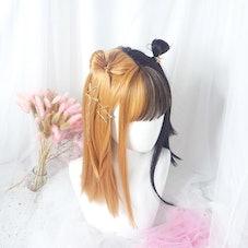 Black Brown Split Wig