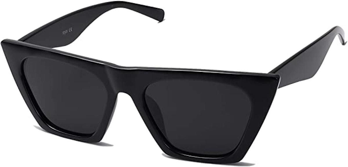 SOJOS Vintage Cateye Polarized Sunglasses
