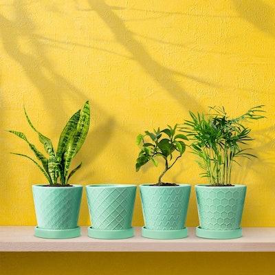 BUYMAX Ceramic Plant Pots