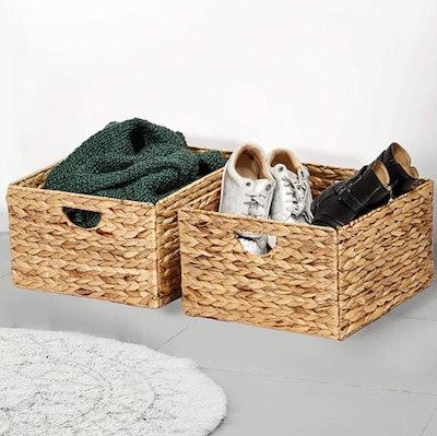 Seville Classics Handwoven Baskets (2 Pack)