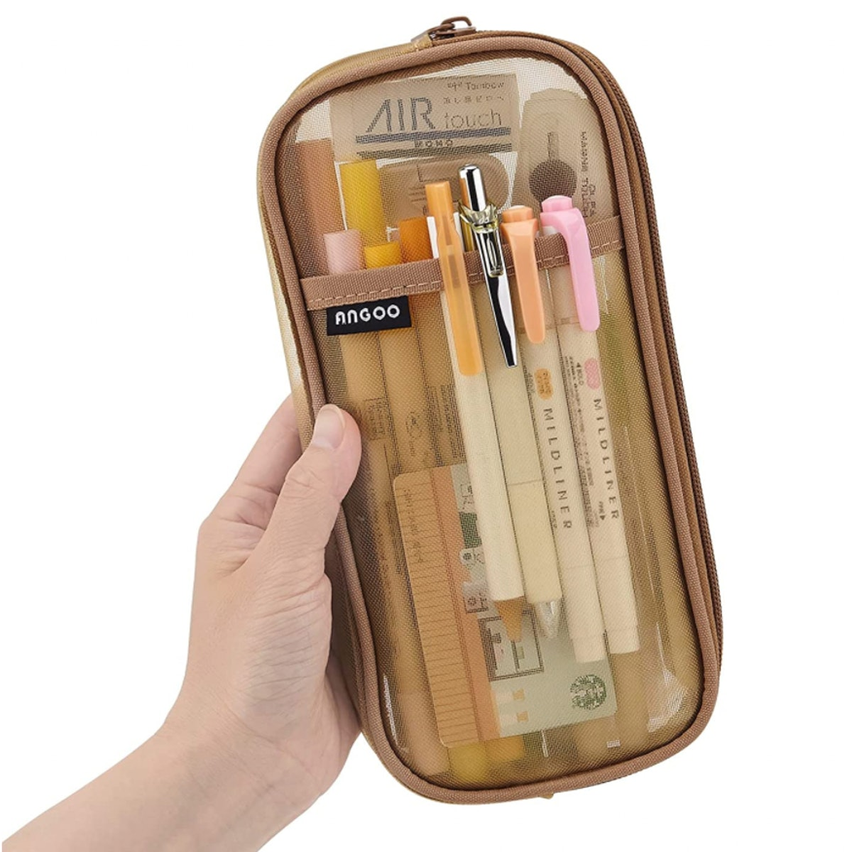 EASTHILL Grid Mesh Pencil Case