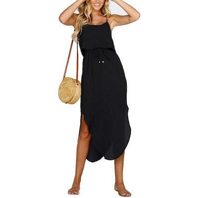 NERLEROLIAN Split Casual Midi Dress