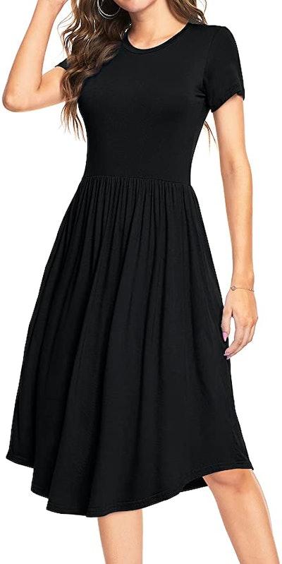 YUNDAI Pleated Midi Dress