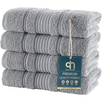 Qute Home Turkish Cotton Hand Towels (Set of 4)