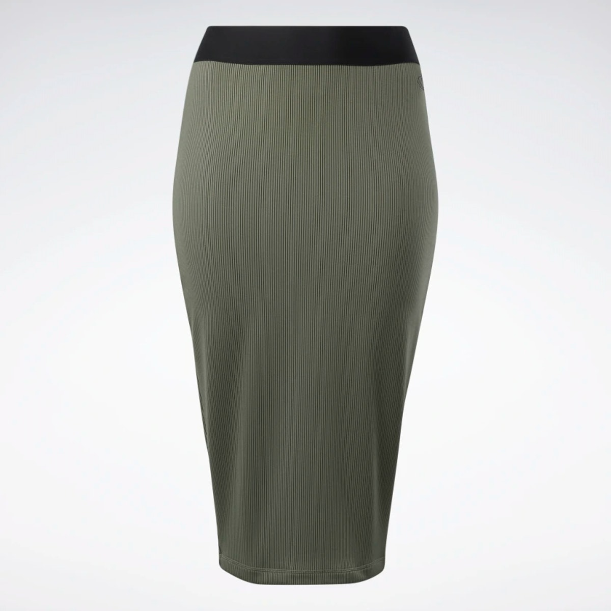 Cardi B's ribbed skirt in the black and army green.
