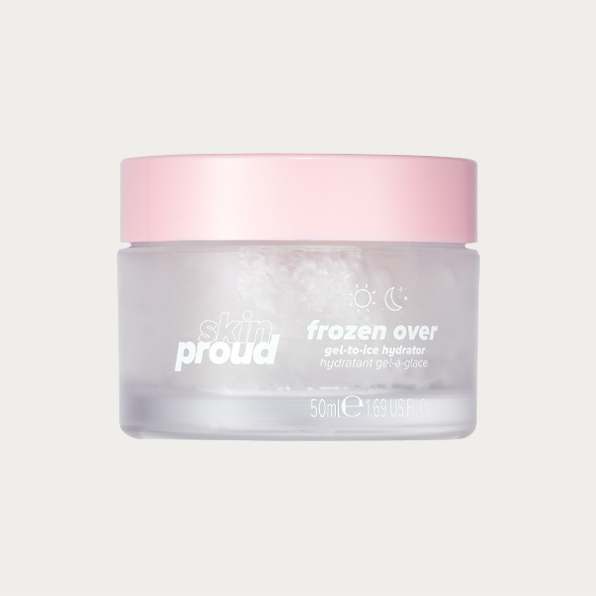 Skin Proud Frozen Over Moisturizer, Gel to Ice Hydrator with triple action hyaluronic acid