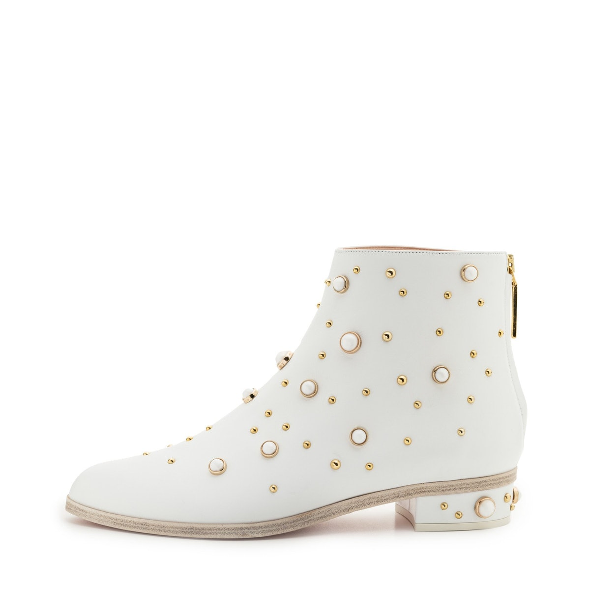 White Magnetic Calf boot from Kendall Miles.