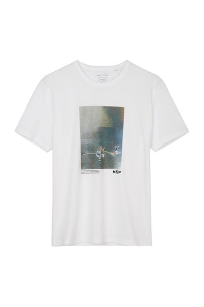 Marc O'Polo White Printed T-shirt