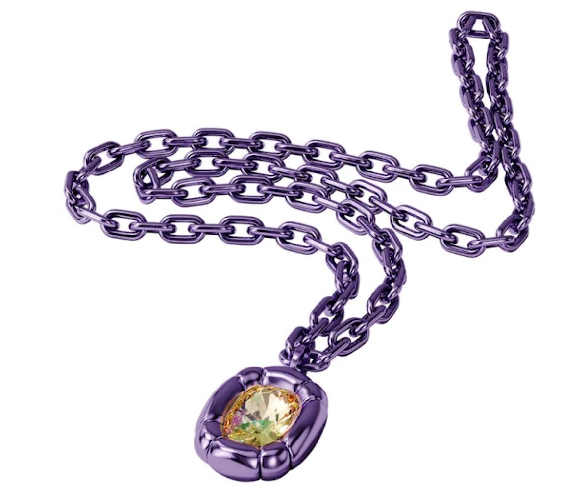 Swarovski's Dulcis Pendant in purple.