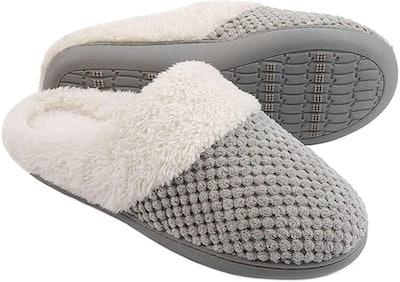 ULTRAIDEAS Comfort Coral Fleece Memory Foam Slippers