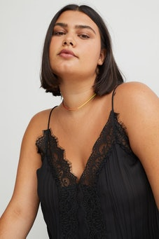 Lace-trimmed Camisole Top