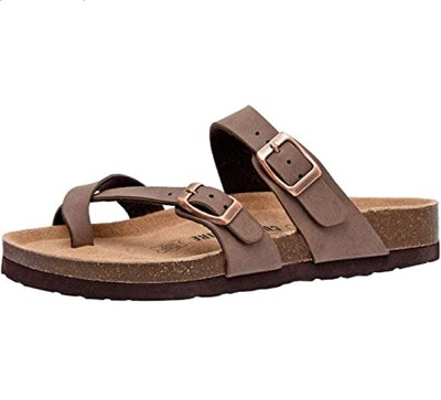 CUSHIONAIRE Luna Cork Sandals