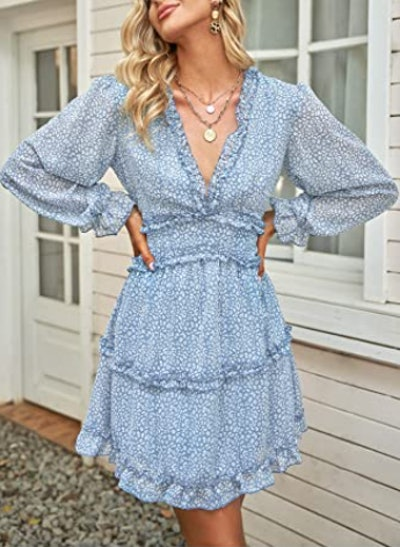 Dokotoo Long Sleeve Ruffle Dress