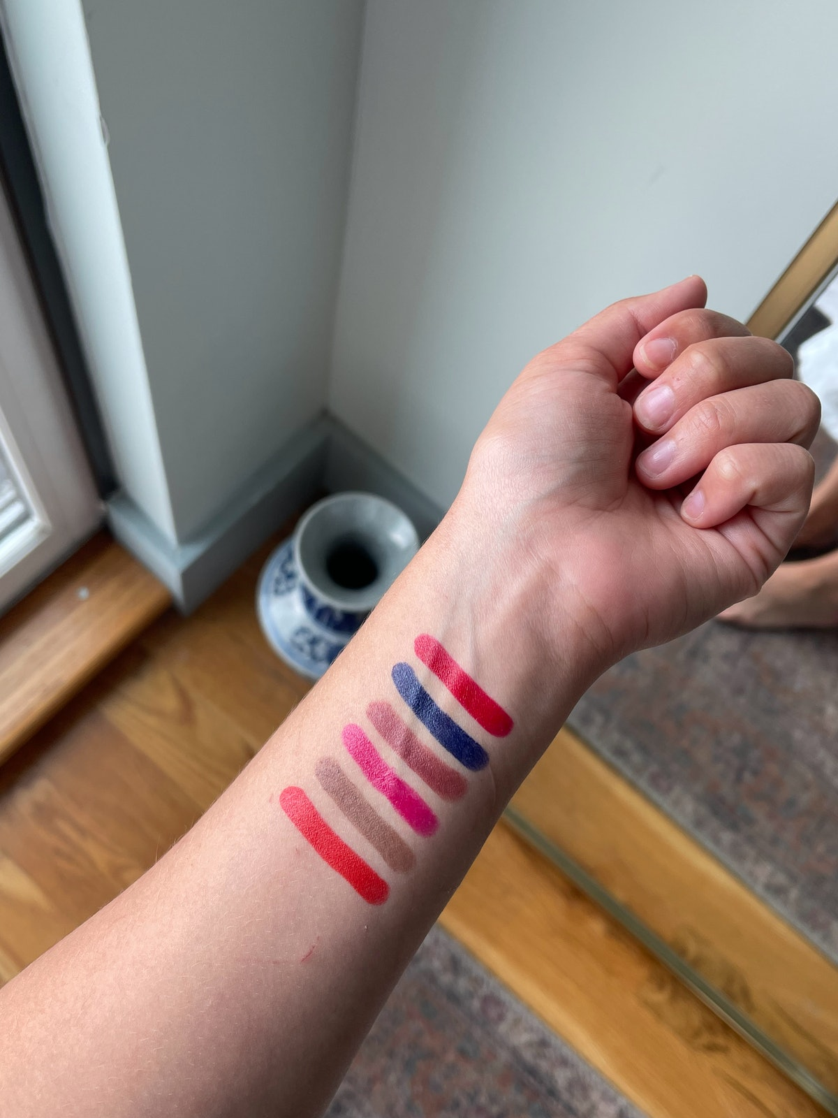 swatches of the colors