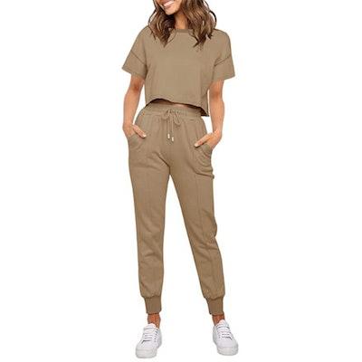 ZESICA Two Piece Loungewear Set