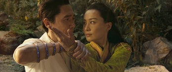 Tony Leung and Fala Chen in one of Shang-Chi and the Legend of the Ten Rings' most memorable scenes