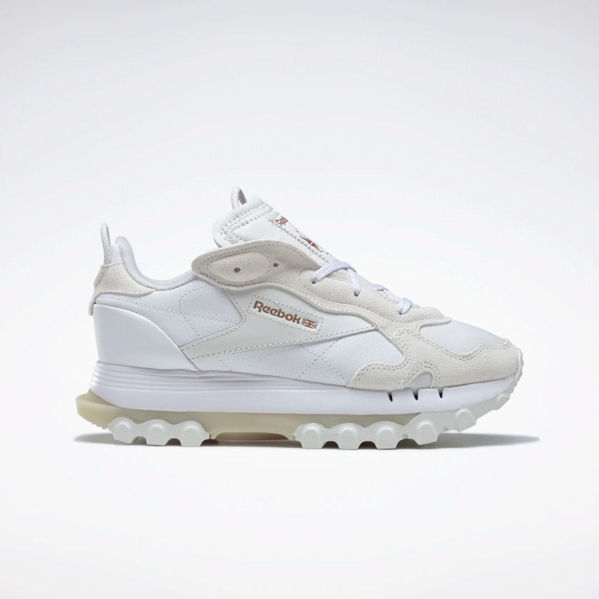 Cardi B's Reebok classic leather women's shoes in white.
