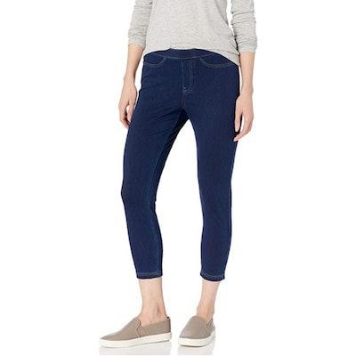 No Nonsense Classic Denim Capri Leggings with Pockets