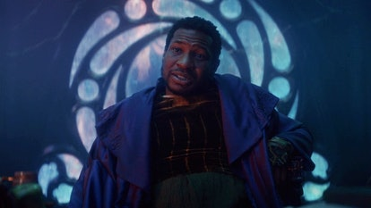 Jonathan Majors appears as a variant of Kang the Conqueror in Marvel's 'Loki' on Disney+.