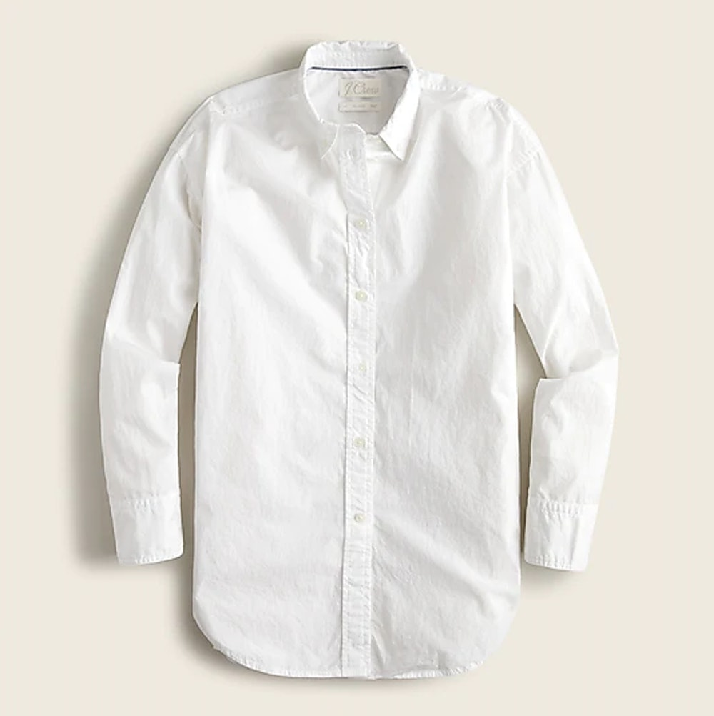 Relaxed-Fit Washed Cotton Poplin Shirt