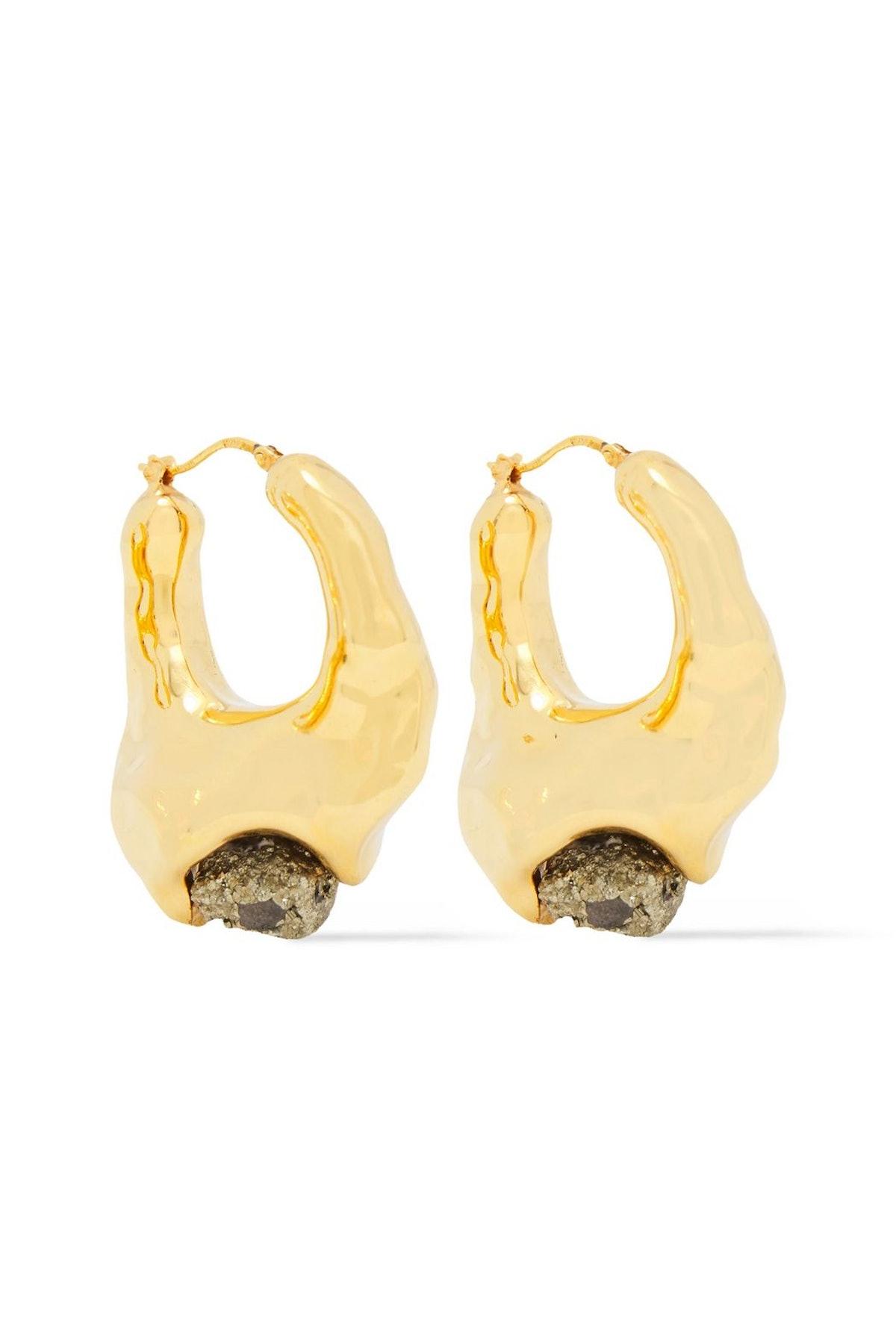 Marni Gold-Tone Pyrite Earrings