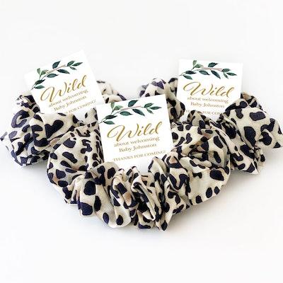 Safari Baby Shower Scrunchies