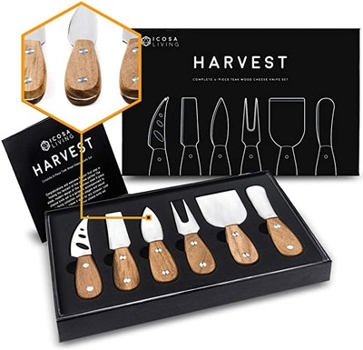 ICOSA Living HARVEST Cheese Knife Set (6-Piece)