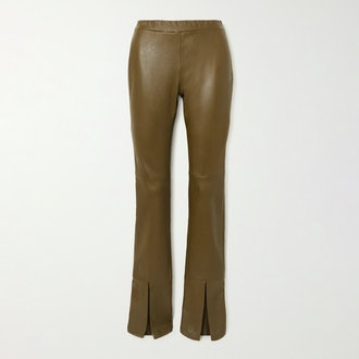 Rosetta Getty Leather Flared Pants