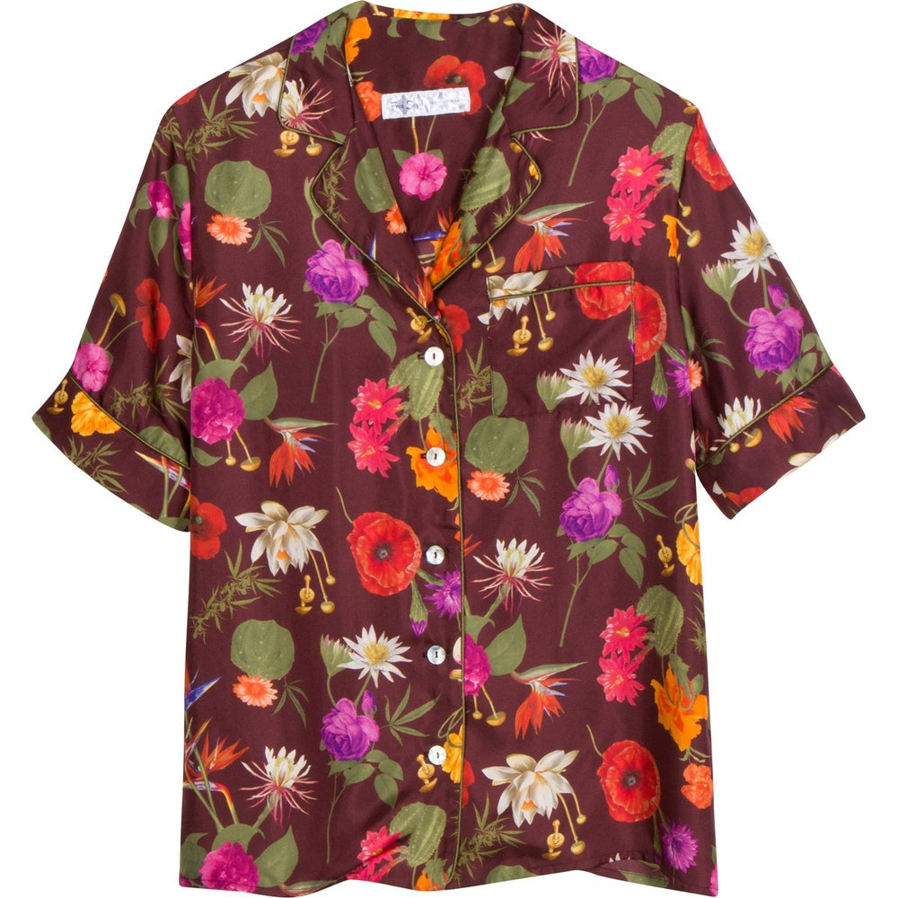 Womens Short Sleeved Shirt - Altered State Floral