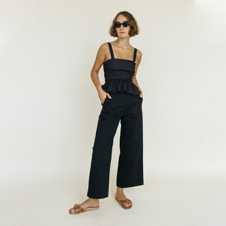 Ciao Lucia Orlando Sustainable Canvas Pant Black