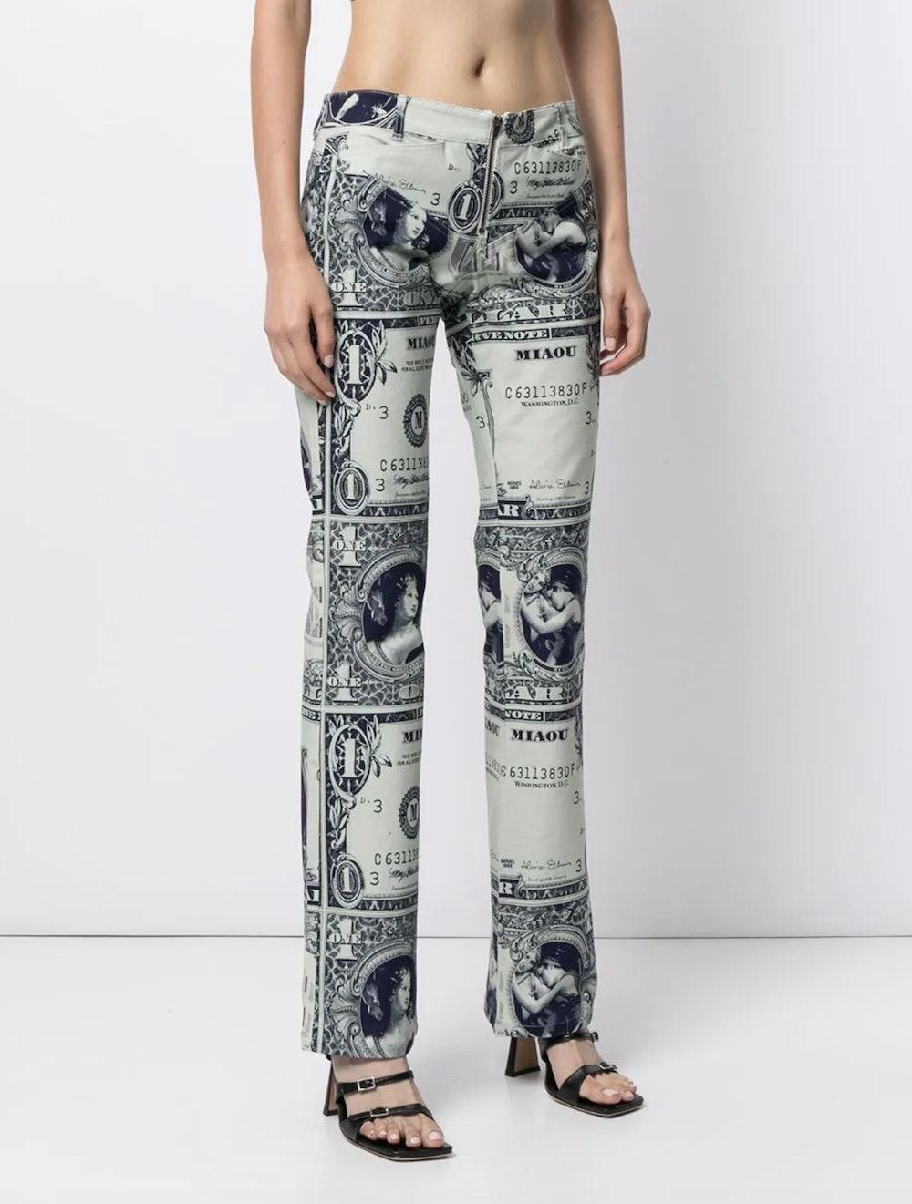 Lowrider Money-Print Trousers
