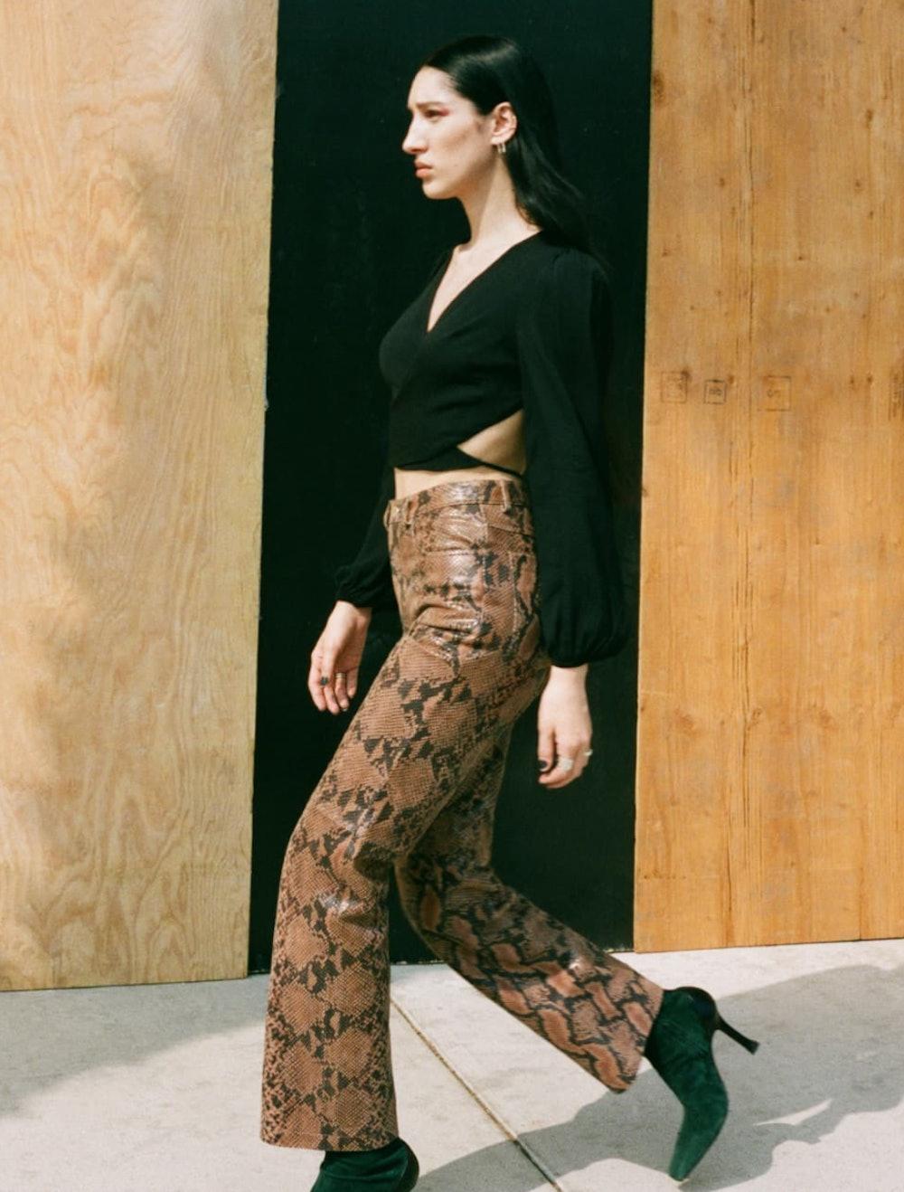 Veda 5 Pocket Leather Pant