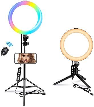 MACTREM Color Changing Selfie Ring Light