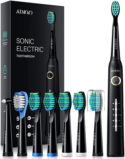 ATMOKO Electric Toothbrush with 8 Duponts Brush Heads