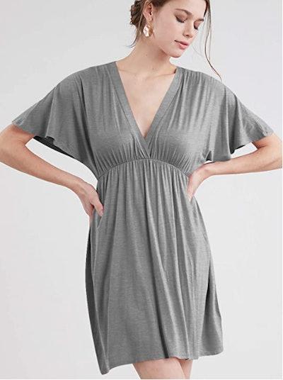 Lock and Love Short Sleeve Kimono Dress