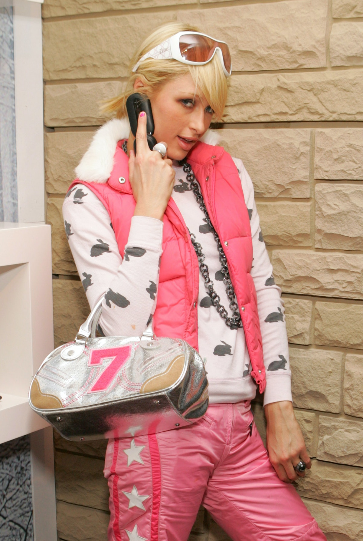 Paris Hilton on the phone