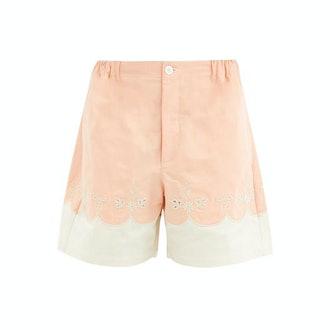 Gucci Scalloped Cotton Poplin Shorts