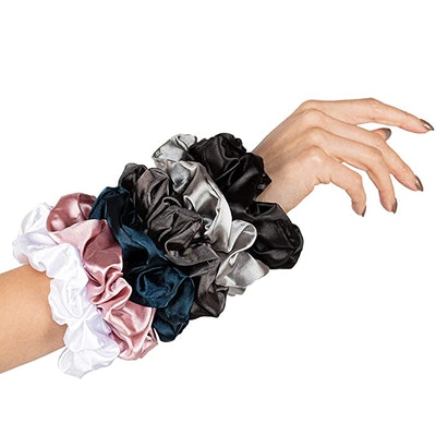 HARLOW Designer Silk Scrunchies (6-Pack)