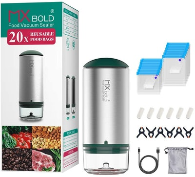 MXBOLD Portable Vacuum Sealer and Sous Vide Bags (20 Count)