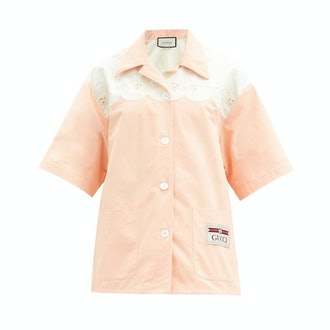Gucci Scalloped Cotton Poplin Shirt