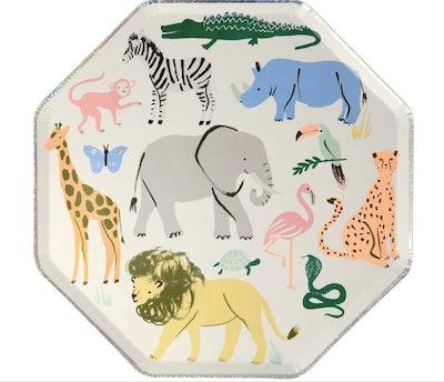 Animal Safari Plates