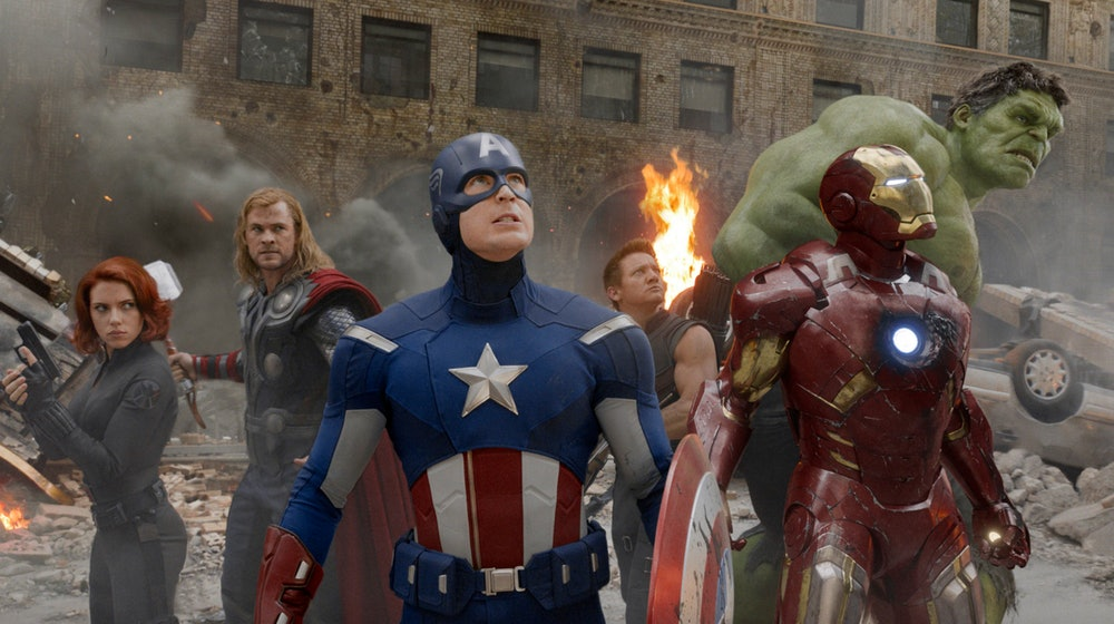 The Avengers assembled during the Battle of New York