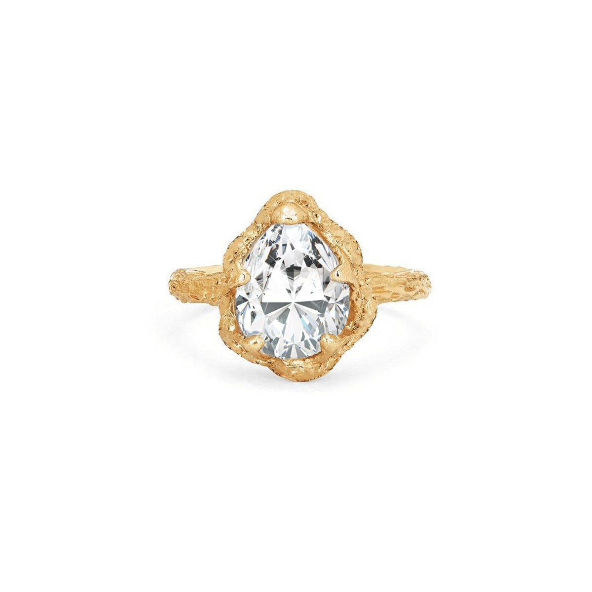 Baby Queen Water Drop Diamond Solitaire Setting from Logan Hollowell.