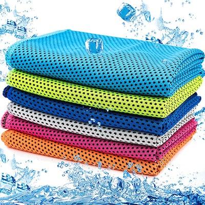 MENOLY Microfiber Ice Towel (6-Pack)