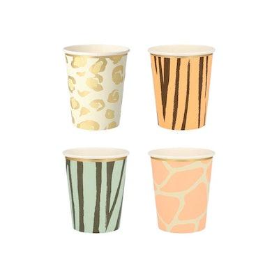 Safari Animal Print Cups