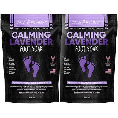 DAILY REMEDY Calming Lavender Foot Soak (2-Pack)