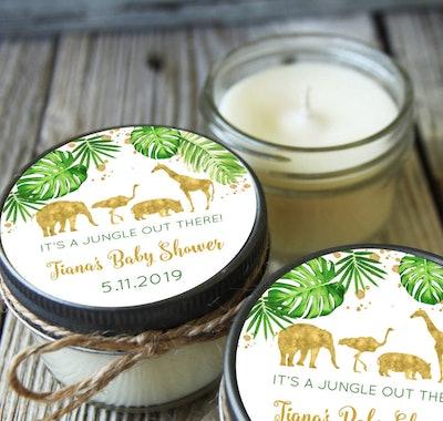 Safari Baby Shower Candle